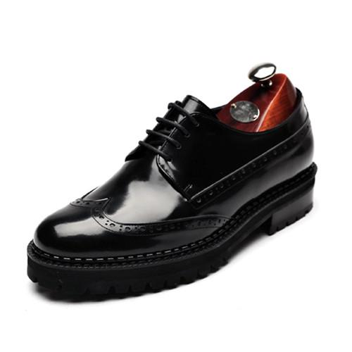 7.5cm Wingtip Vibram Hand made shoes (montana_CH0012)