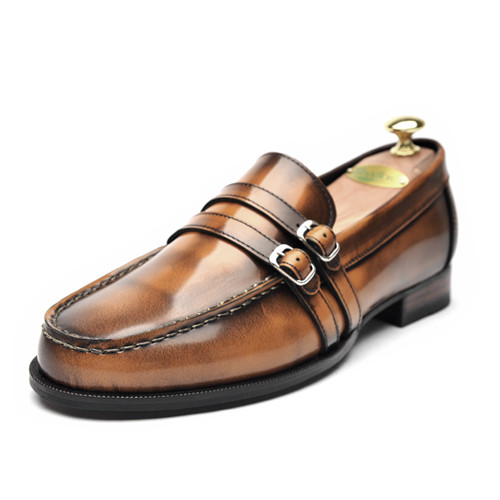 6.5cm Height increase Penny Looper Hand made shoes (EL0069ABR)