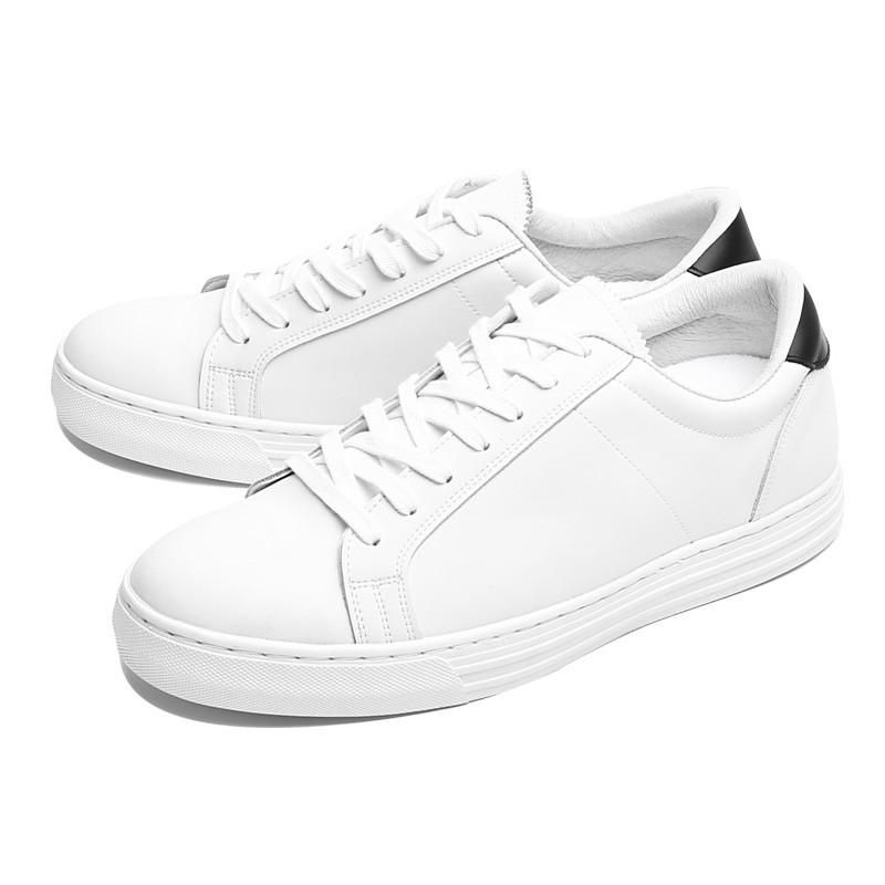 5cm White Matt Leather Sneakers (CL0007)