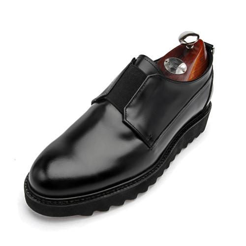 7cm Sharkslee Plain Banding Hand made shoes (Arena _EL0148BK)