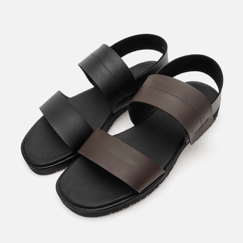 3cm Height increase triple Leather Banding Sandals (CL0012)