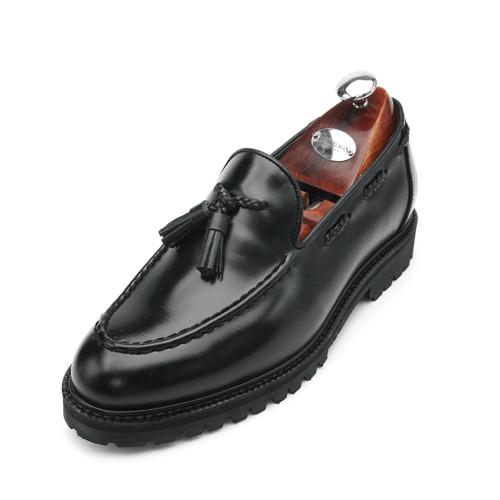 7cm COMANDO Yuti Tassel Looper Hand made shoes (EL0151BK)