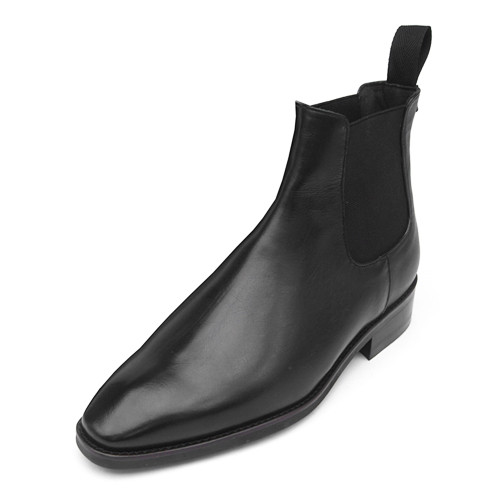 8cm Leather Dynight Chelsea Boots (Eden _EL0158BK)