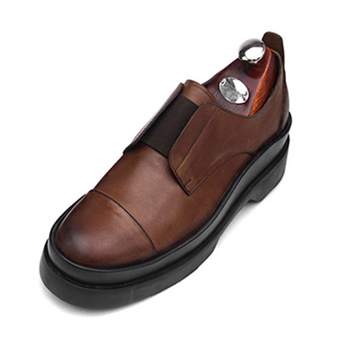 7.5cm Banding Straight Tip Double Sole Hand made shoes (CH0046DBR)