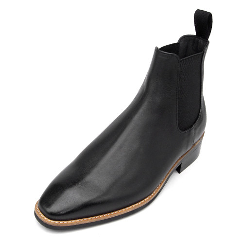 8cm Leather Dynight Chelsea Boots (Eden _EL0158_1BK)