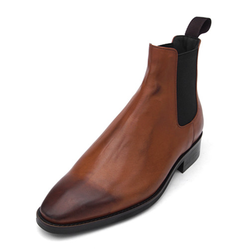 8cm Leather Dynight Chelsea Boots (Eden _EL0158TB)