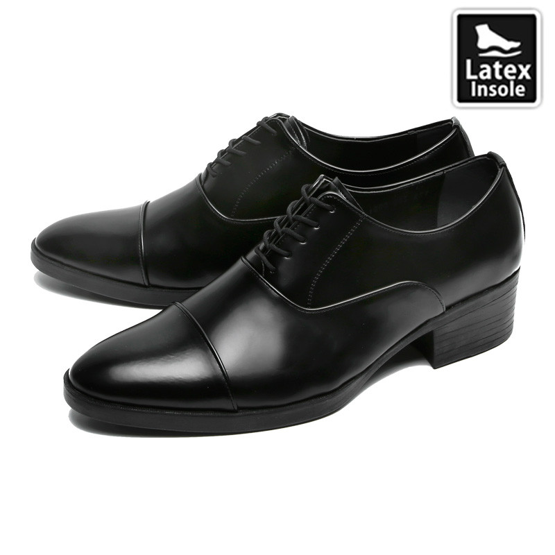 7cm Height increase Straight Tip Oxford Shoes (CL0022)