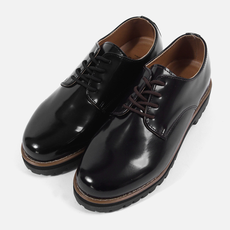 4cm Casual Leather Derby Shoes (ZE0142)