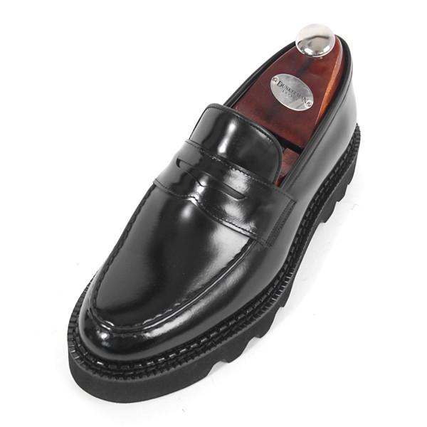 8cm Comando penny loafers Hand made shoes (EL0170BK_Comax)