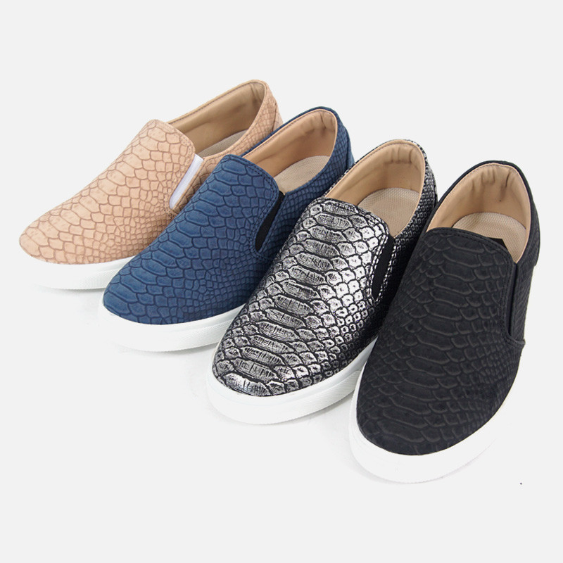 3cm Snake skin Couples Slip-on Shoes (AR0080)