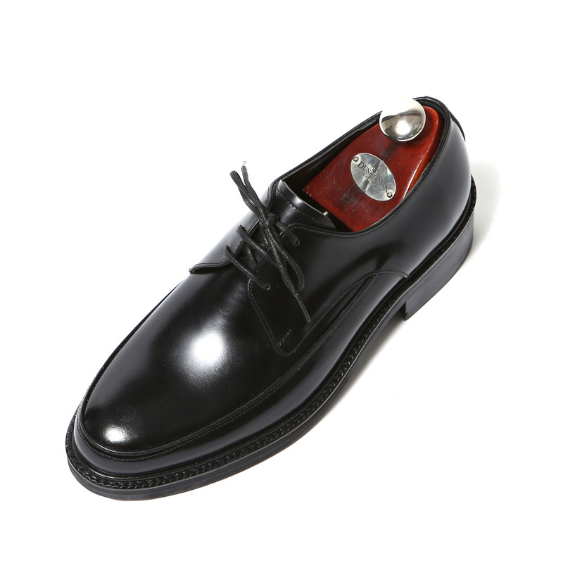 7.5cm Yufty Oxford Derby Hand made shoes (EL0174BK)