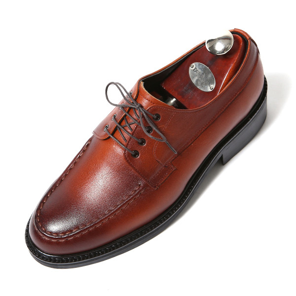 7.5cm stitch Yuft Derby Oxford Hand made shoes (EL0175BR)