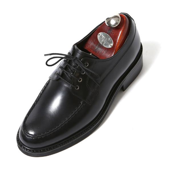 7.5cm stitch Yuft Derby Oxford Hand made shoes (EL0175BK)