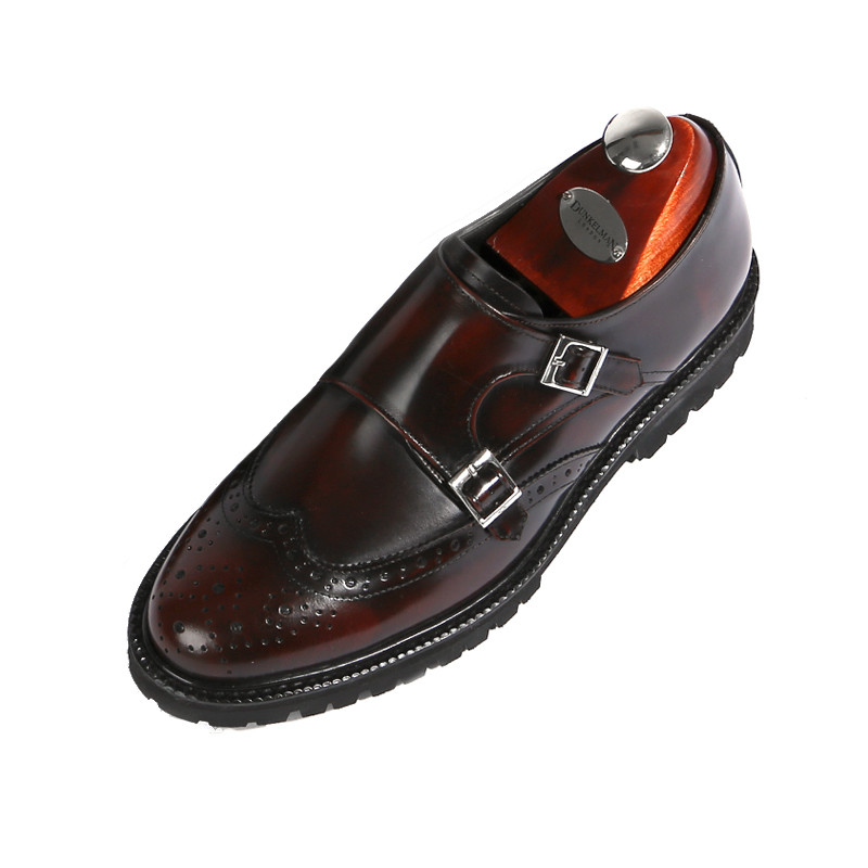 8cm Wingtip double Monk Strap Hand made shoes (EL0179WN)