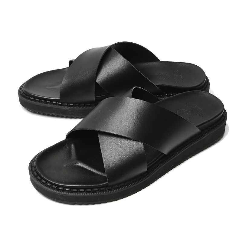 4cm Real Leather cross Slippers (RUX_CR0006)