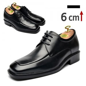6cm Height increase Yutibi cowhide dress shoes (ZE0027BK)