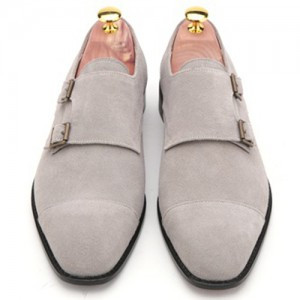 Men's Split Double Monk Strap Hand made shoes (yd300gy)