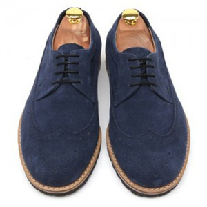 Wingtip Suede Pin height clipper Hand made shoes (k3072ny)