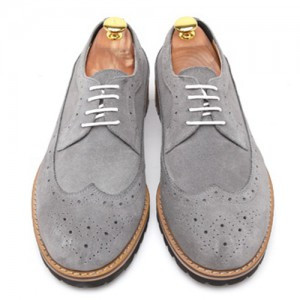 Wingtip Suede Pin height clipper Hand made shoes (k3072gy)