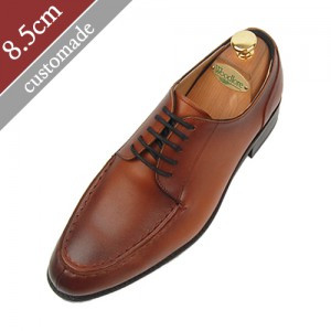 8.5cm Height increase Derby Yutippe Hand made shoes (EL0005BR)