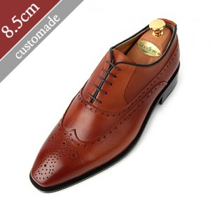 8.5cm Height increase Balmoral Wingtip Oxford Hand made shoes (EL0010BR)