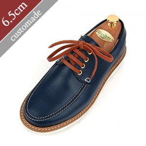 6.5cm Height increase Casual Hand made shoes (EL0076BL)