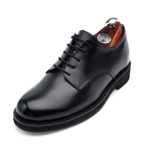 6.5cm Height increase US Navy shoes Purento Hand made shoes (EL0025BK)