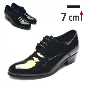 7cm Height increase Oxford Crink Dress Shoes (6331bkc)