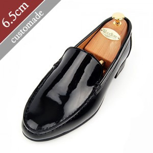 6.5cm Height increase Loafers Hand made shoes (EL0062CBK)