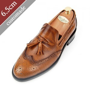 6.5cm Height increase tether roper Hand made shoes (EL0063BR)