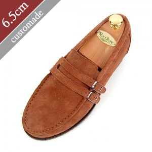 6.5cm Height increase Penny Looper Hand made shoes (EL0069BR)