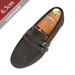 6.5cm Height increase Penny loafers Hand made shoes (EL0069DBR)