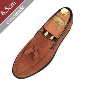 6.5cm Height increase tether roper Hand made shoes (EL0042BR)