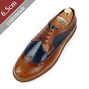 6.5cm Height increase Casual Wingtip Hand made shoes (EL0080TWBR)