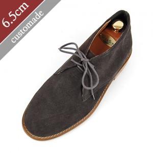 6.5cm Height increase Suede handmade chucker boots (EL0087DBR)