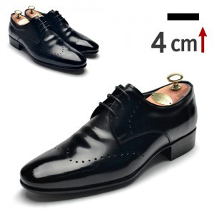 4cm Height increase Punching Purento Classic Shoes (0917BK)