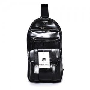 3 Pocket Leather Messenger Bag (rbcb-009bk)