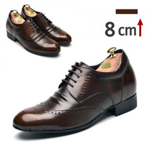 8cm blog Wingtip Derby Shoes (ZE0001BR)