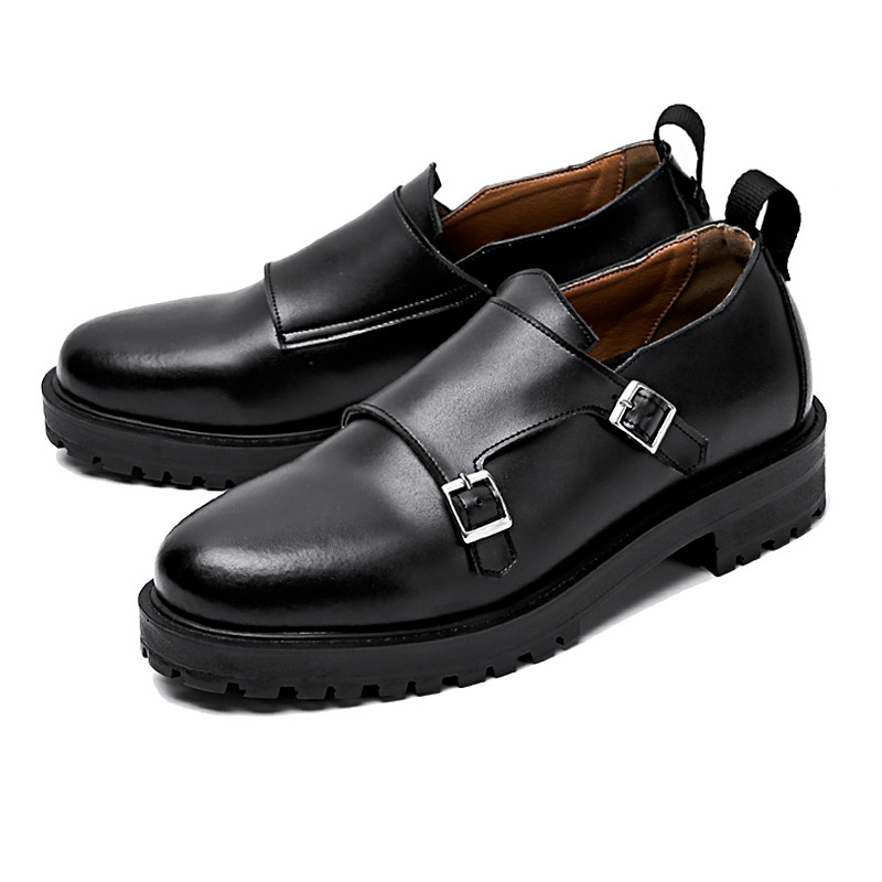4.5cm Real Leather double Monk Strap (AUSTIN_CR0010)